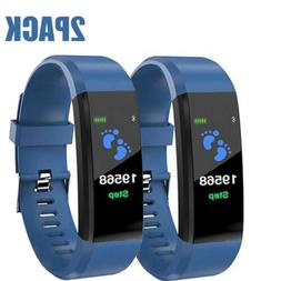 2 Smart Band Watch Bracelet Wristband Fitness Blood Pressure