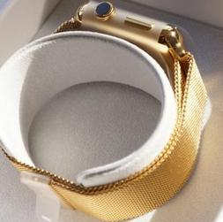 24K Gold Plated 42MM Apple Watch Series 2 with Gold Milanese