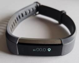 NEW Fitbit Alta HR Heart Rate Fitness Large L Gray smarthpho