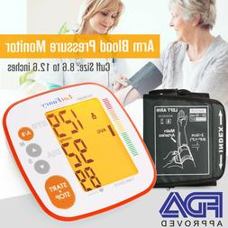 Arm High Blood Pressure Monitor BP Cuff Gauge Machine Heart