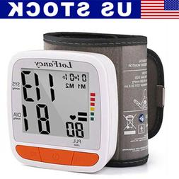 Digital Automatic Wrist Cuff Blood Pressure Monitor BP Machi