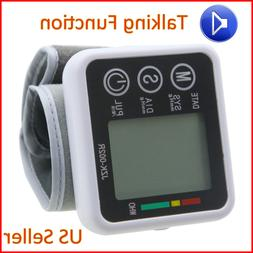 Blood Pressure Monitor Digital Wrist Cuff Automatic BP Measu