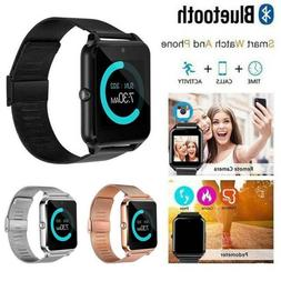 Bluetooth Android Smart Watch Wrist Steel Band Phone GSM SIM