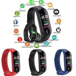 Bluetooth Smart Bracelet Wristband Sport Watch Heart Rate Bl