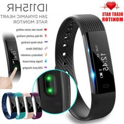Bluetooth Smart Fit bit watch Heart Rate Blood Pressure Moni