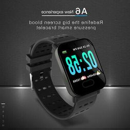 Bluetooth Smart Watch Blood Pressure Heart Rate Monitor for