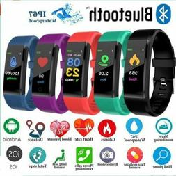 Bluetooth Smart Watch Heart Rate Blood Pressure Monitor Brac