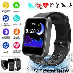 Bluetooth Smart Wrist Watch Blood Pressure Heart Rate Monito