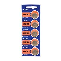 50 X Cr1632 Sony 3 Volt Lithium Coin Cell Battery