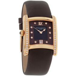 Frederique Constant Delight Brown Dial Satin Strap Ladies Wa