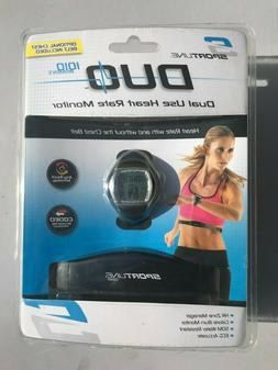 Sportline Duo Women's Dual Use Heart Rate Monitor Watch with