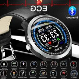 "ECG PPG 1.22"" HD Smart Watch Heart Rate Monitor Bluetooth Br"