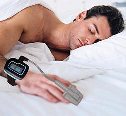 FDA Cleared Wrist Watch Pulse Oximeter Overnight Home Sleep