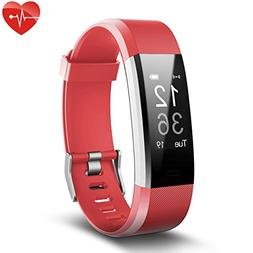 Fitness Tracker, Juboury Slim Heart Rate Smart Bracelet Wear