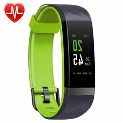Lintelek Fitness Tracker Color Screen Activity Heart Rate Mo