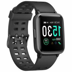 LETSCOM Fitness Tracker Heart Rate Activity Monitor Touch Sc