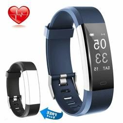 Fitness Tracker Heart Rate Monitor Calorie Step Counter Pedo