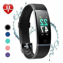 LETSCOM Fitness Tracker Heart Rate Monitor Watch IP68 Waterp