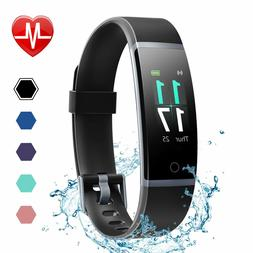 LETSCOM Fitness Tracker Heart Rate Monitor Wristband Waterpr