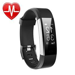 Letsfit Fitness Tracker HR, Activity Tracker Watch with Hear
