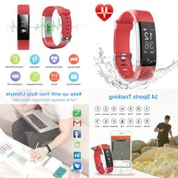 LETSCOM Fitness Tracker HR Heart Rate Monitor Watch IP67 Wat