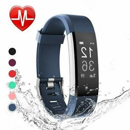 LETSCOM Fitness Tracker HR, Heart Rate Monitor Watch, IP67 W