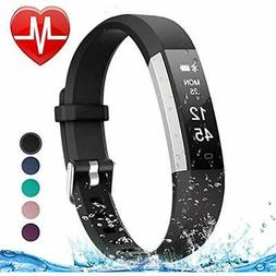 Letsfit Fitness Tracker HR, Heart Rate Monitor Watch, IP67 W