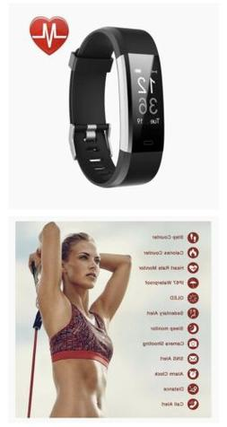 Lintelek Fitness Tracker with Heart Rate Monitor, Activity &
