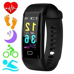 Fitness Trackers,Color Screen Heart Rate Monitor Activity Tr