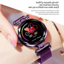 H1 Women Lady Bluetooth Heart Rate Blood Pressure Monitor Sm