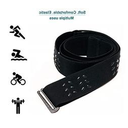 Heart Rate Monitor Chest Strap Replacement, Elastic Soft Str