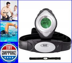 Heart Rate Monitor Watch Chest Strap Fitness Pulse Counter E