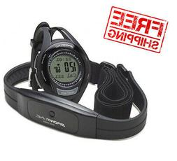 Heart Rate Monitor Watch W/ Chest Strap Counter Exercise Tim