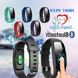 ID107Plus Smart Watch HR Heart Rate Sport Tracker Bracelet W