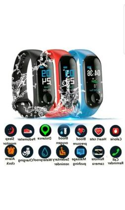 For iOS Android Black Smart Watch Blood Pressure Heart Rate