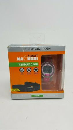 TIMEX IRONMAN ROAD TRAINER T5K716 PINK GRAY HEART RATE MONIT