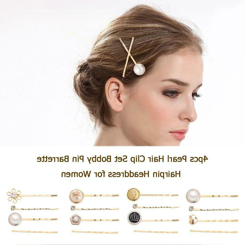 4pcs Pearl Set Hairpin for C NEW