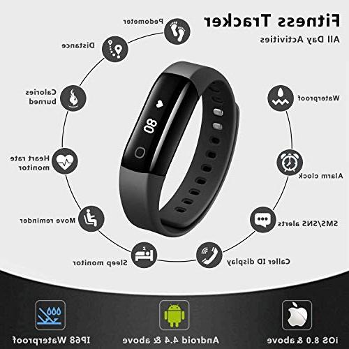 Arbily Tracker, Activity Tracker Heart Rate Monitor, Swimming Watch/Step Counter/GPS for and iOS