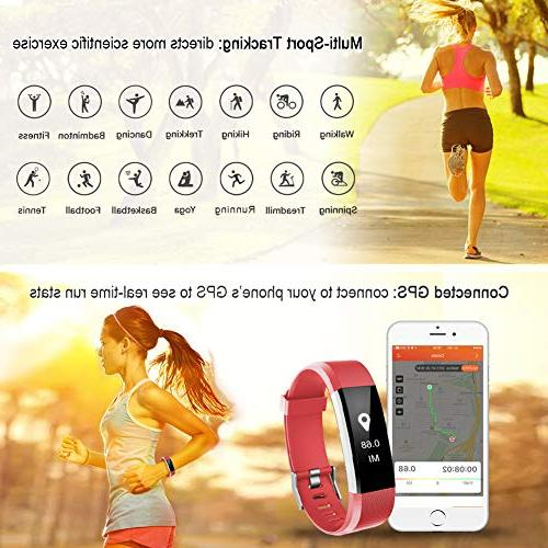 LETSCOM Tracker HR, Activity Tracker Heart Smart Band with Step Calorie Pedometer Women