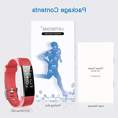 LETSCOM Activity Watch Heart Rate Smart with Step Pedometer Watch for Women Men