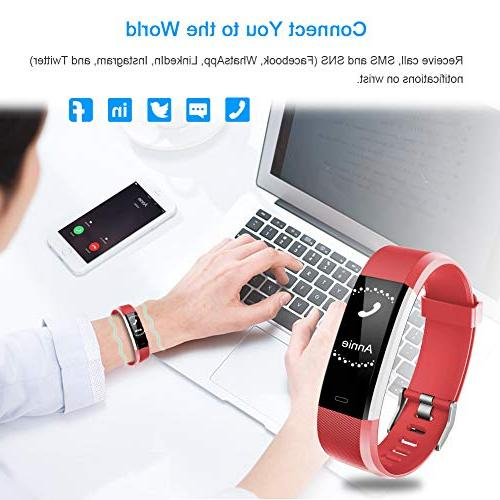LETSCOM Fitness HR, Activity with Heart Waterproof Smart Fitness with Step Counter, Calorie Counter, Pedometer Women