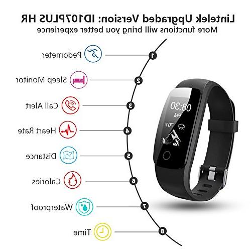Lintelek Fitness Heart Rate Activity Tracker, Relax,14 Modes,IP67 Waterproof Wristband for Kids,