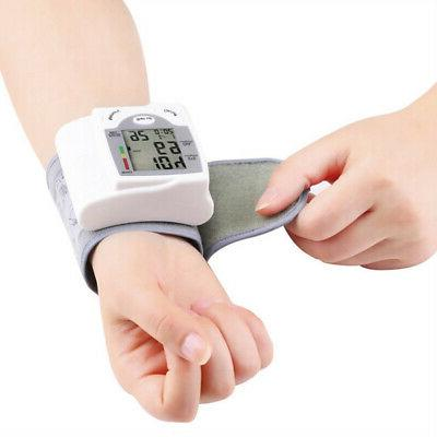 automatic digital wrist blood pressure monitor heart