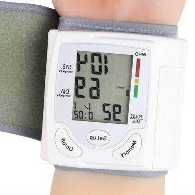 lcd digital wrist blood pressure monitor measure