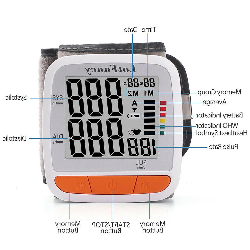 Automatic Blood Pressure BP Cuff Heart Machine Size Wrist