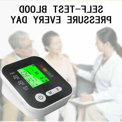 Automatic Digital Arm Blood Pressure LCD Screen Heart US
