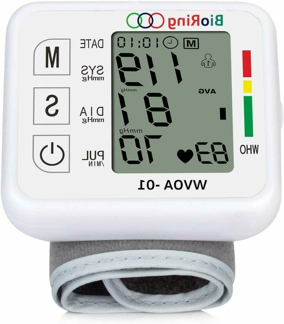 automatic wrist blood pressure monitor heart rate