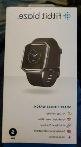 Fitbit Blaze Smart Fitness Watch, Black, Silver, Small