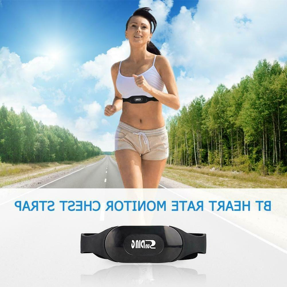 Smart Bluetooth Heart Rate Monitor Chest Strap Fitness Equip