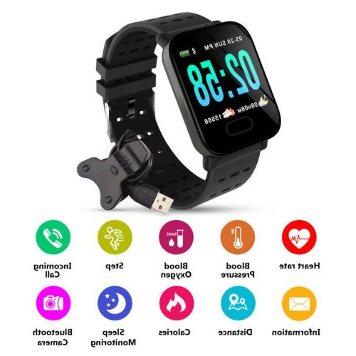 Waterproof Smart Blood Pressure Heart Rate Monitor Health Tracker